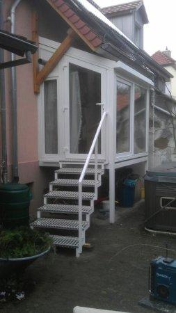Wintergarten mit Treppe
