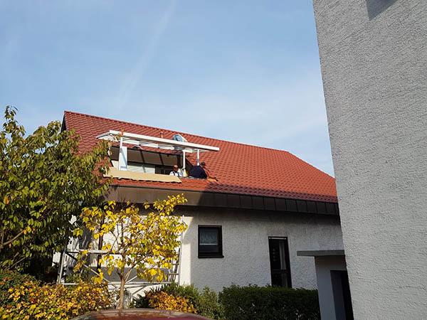 Überdachung Dachbalkon