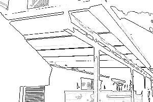 Skizze Terrassendach