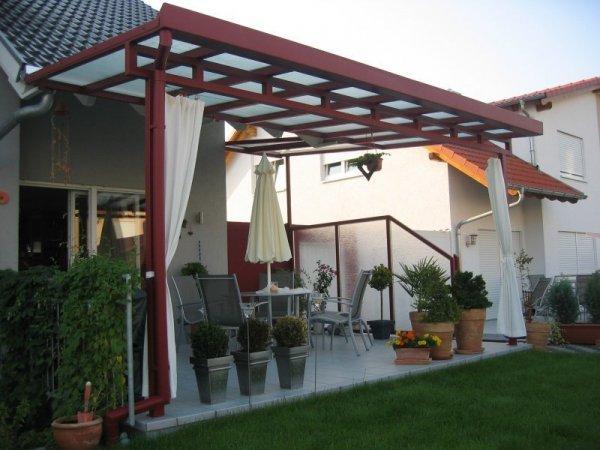 Überdachung Terrasse mit Windschutz