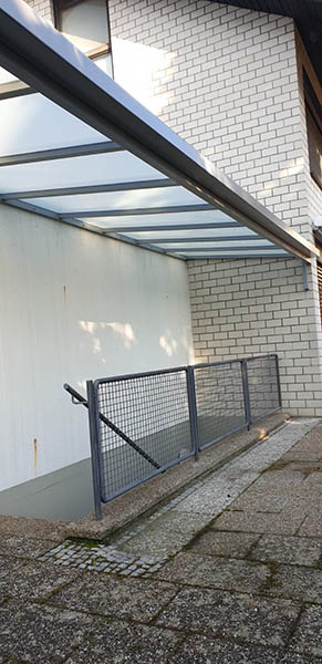 Überdachung Kelleraufgang